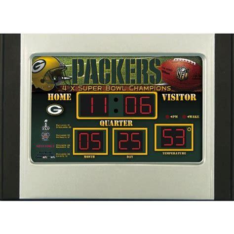 green bay packers scoreboard desk clock home garden decor clocks shelf clocks