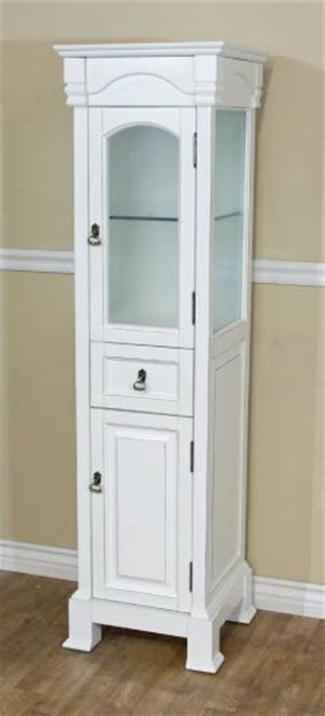 bathroom linen cabinet in white finish uvbh205065towerwh
