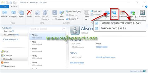 mobile live mail how to transfer contacts from windows live mail to mobile