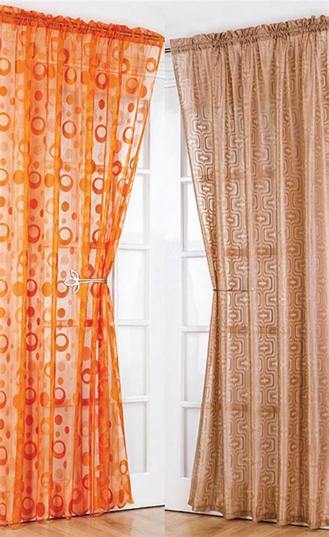 vintage voile curtains modern retro voile net curtain panel 54 quot 72 quot 90 quot same
