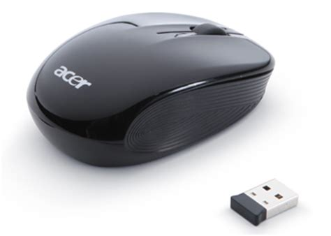 Mouse Acer Usb wireless optical mouse matt black options tech specs reviews acer