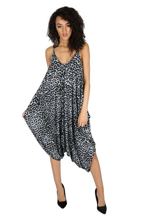 Jumpsuit Playshot new womens lagenlook baggy cami strappy romper harem jumpsuit playsuit ebay