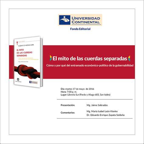 libro el mito del carisma presentaci 243 n del libro el mito de las cuerdas separadas fondo editorial