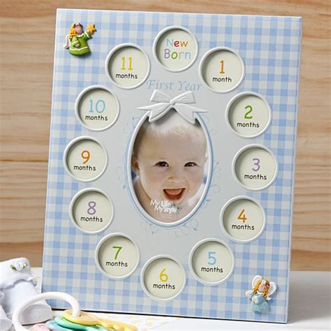 baby s year photo keepsake baby s 1st year photo collage frame 13 pictures gift