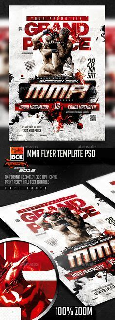 Fitness Gym Flyer V4 Studios Creative And Colors Mma Flyer Template