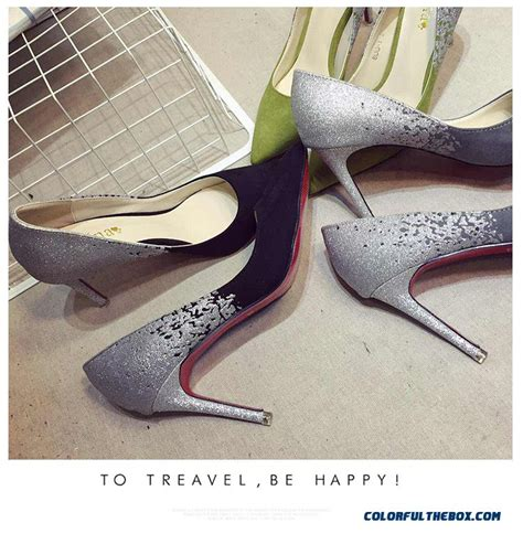 chagne color heels cheap shoes suede high heeled gradual change color