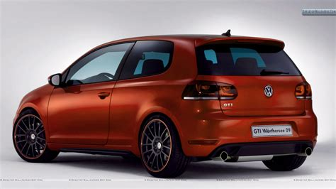 orange volkswagen gti volkswagen gti worthersee 09 concept orange color car back