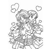 Anime Couples Coloring Pages  Vitltcom