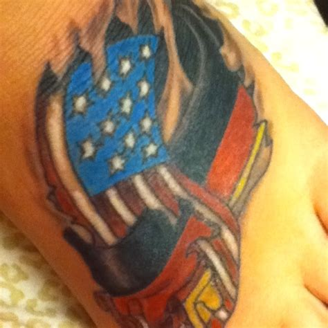 german flag tattoo german and american flag intertwining tattoos