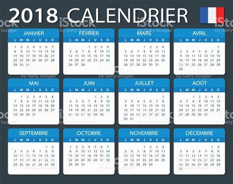 Calendrier 2018 Illustrator Calendrier 2018 Version Fran 231 Ais Stock Vecteur Libres De