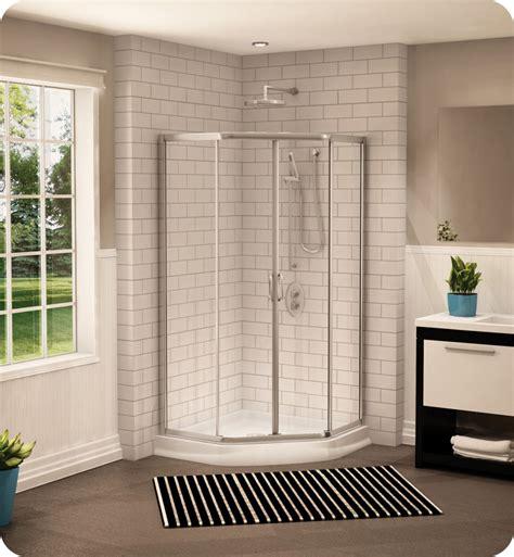 neo angle shower door 70 h fleurco fan36 signature 36 quot neo angle sliding shower