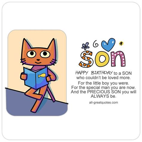 printable birthday cards son beautiful collection of son poems