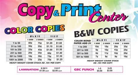 copies in color copy center narcisos printing inc