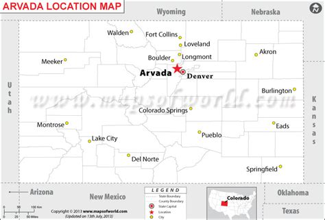 arvada colorado usa map where is arvada colorado