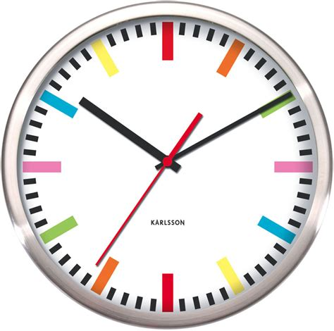 Colourful Kitchen Cabinets kitchen wall clocks