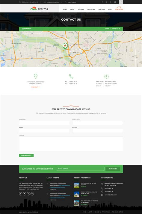 themeforest contact support realtor real estate html template by wpmines themeforest