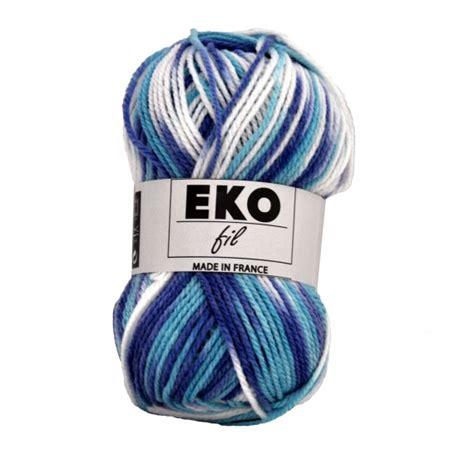 Pelote de laine pas chère à tricoter EKOFILColor Dégradé de bleus   Sperenza: boutique de laines