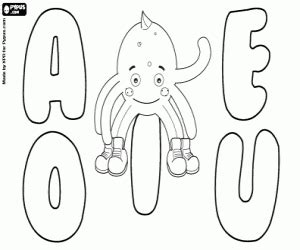 coloring pages for vowels alphabet of pypus coloring pages printable