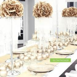 Gold centerpieces gold wedding decorations amp ideas