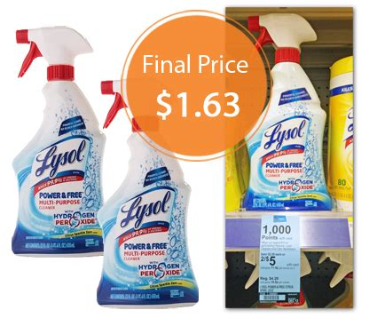lysol spray cleaner    walgreens  krazy coupon lady