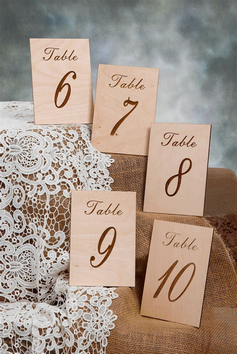 wooden table numbers 1 25 wood table numbers 6 10