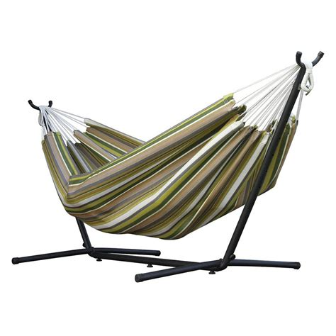 Hammock With Stand Lowes shop vivere carousel limelight fabric hammock stand included at lowes