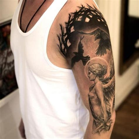 angel shoulder tattoo 63 fantastic shoulder tattoos
