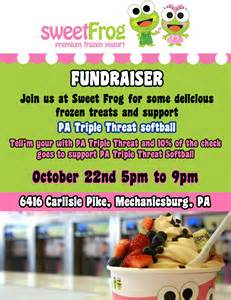 sweet frog fundraiser october 21st amp 22nd pa triple threat
