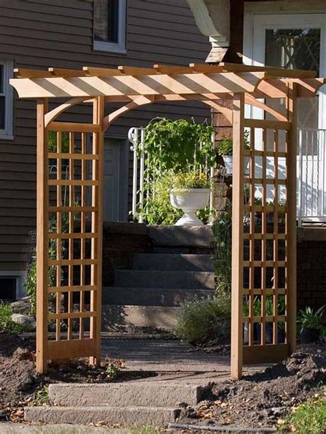 simple garden trellis how to build a simple garden arbor gardens sprinklers