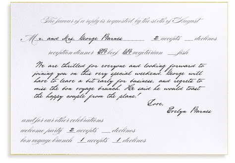 how to properly fill out a wedding response card how to fill out a formal rsvp card bell invito stationers weddings traditional