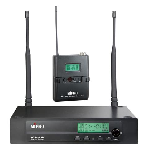 Mic Wireless Mipro Act 311 B Original 1 Peggang mipro act 311b act 32t radio mic system commercial audio solutions
