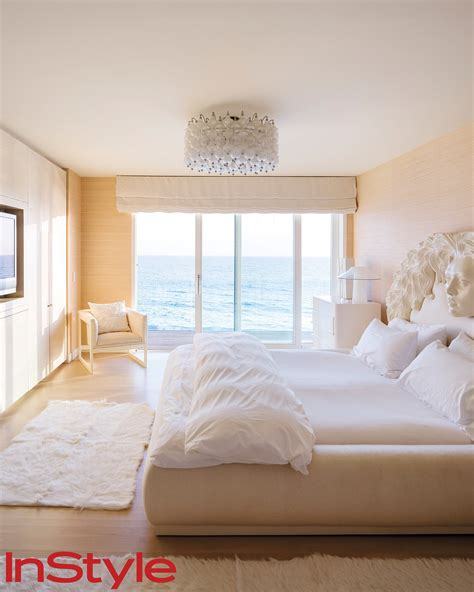 white and cream bedroom in her guest bedroom one of two shades of cream and
