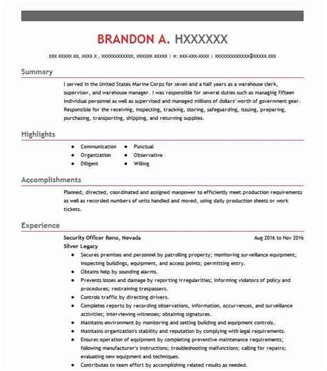 736 manufacturing and production resume exles in las vegas nv livecareer