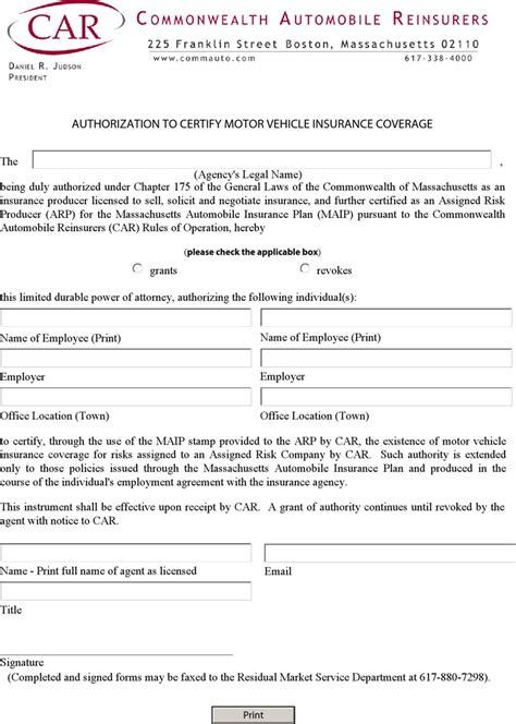 Download Massachusetts Authorization to Certify Motor