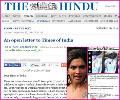 editorial section of times of india kemmannu com deepika padukone cleavage controversy the
