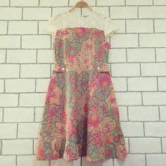 Dress Babydoll Murah Cheongsam 7009rose baju batik modern murah model dress batik