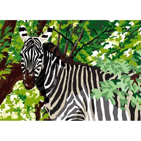 Tapisserie Zebre by Z 232 Bre Et Feuillages Canevas Ca3250 339 Luc Cr 233 Ation