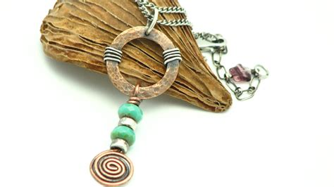 Handmade Metal Jewelry - copper jewelry handmade mixed metal wire wrapped jewelry