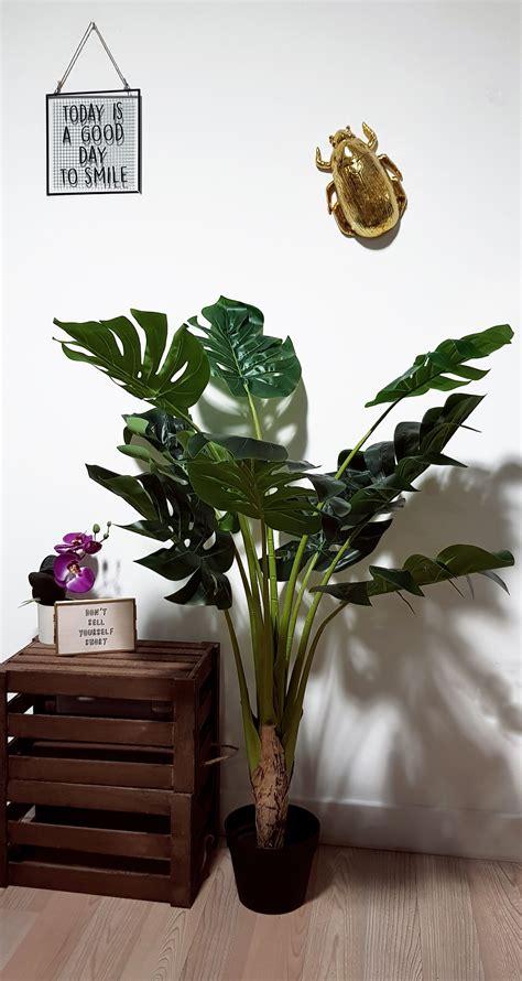 cm artificial monsteracheese plant bedroom plants