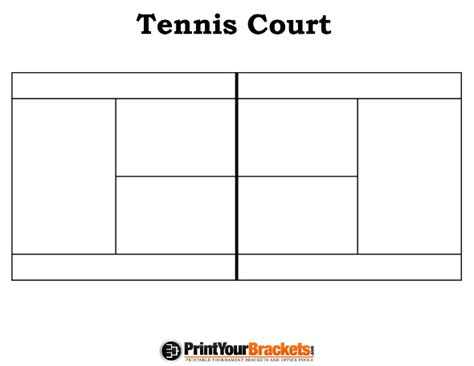 tennis court template printable tennis court diagram