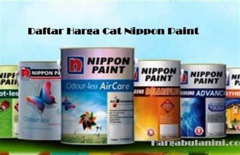 Daftar Harga Cat Tembok Merk Nippon Paint daftar harga cat rumah nippon paint terkini februari 2019