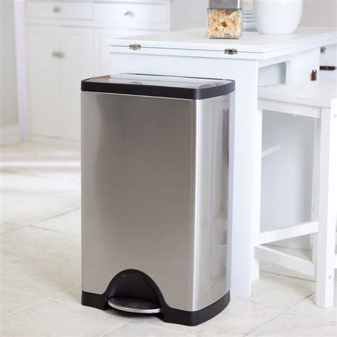 Trash Cans Kitchen by Simplehuman 174 Rectangle Step Trash Can Brushed Stainless