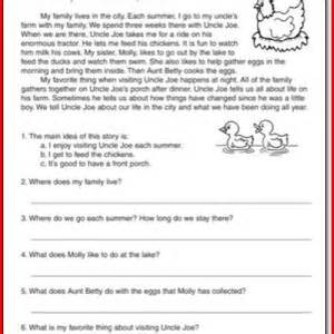 20 images of reading passages for first grade reading