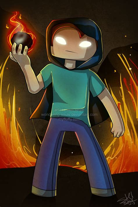 sketch version yogscast fanart minecraft by g sw13 herobrine by wondering souls on deviantart