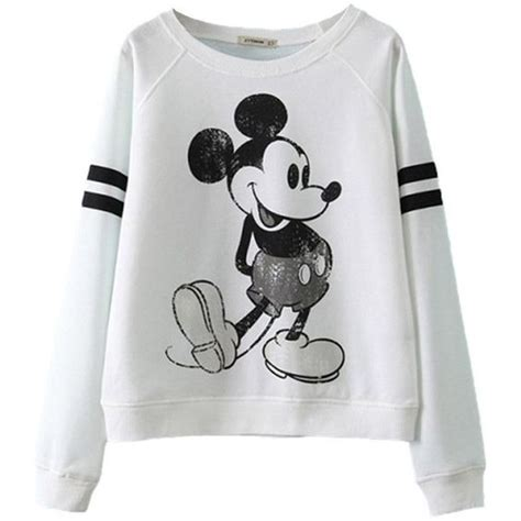 Crop Hoodie Jumper Jaket Nevy relibeauty cropped boyfriend sweatshirt with mickey