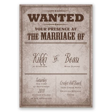 Wedding Invitations Cheap Western by Western Poster Invitation With Free Response Postcard