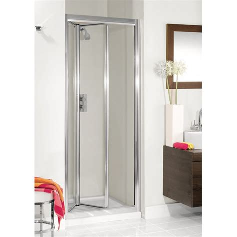 Quality Shower Doors Simpsons Supreme Quality Bifold Shower Door Silver Buy At Bathroom City