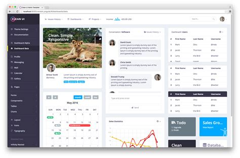 Download Free Clean Ui Admin Template Classic Material Design Landing Pages Angularjs Starter Angularjs Landing Page Template