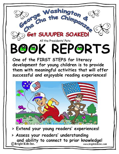 george washington book report bright book report activities george washington and
