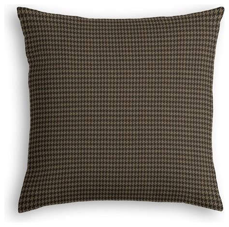 Black Throw Pillow by Black Small Houndstooth Custom Throw Pillow